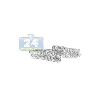 18K White Gold 0.39 ct Diamond Womens Vintage Band Ring