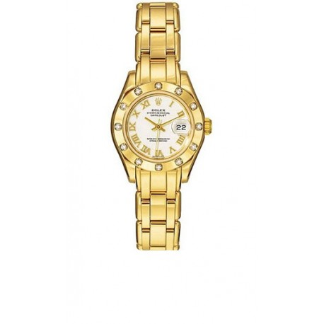 Rolex Oyster Perpetual Pearlmaster Ladies Watch 80318-PM