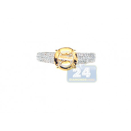 18K White Gold 0.47 ct Diamond Engagement Ring Setting