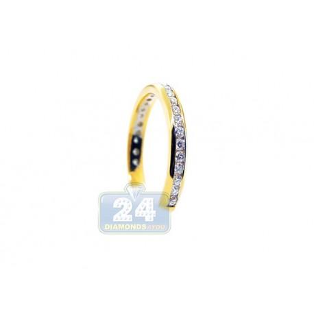 14K Yellow Gold 0.51 ct Diamond Womens Band Ring