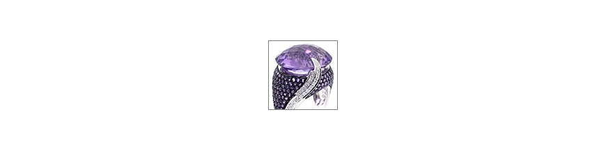 Womens Gemstone Rings: Sapphire Emerald Ruby Amethyst