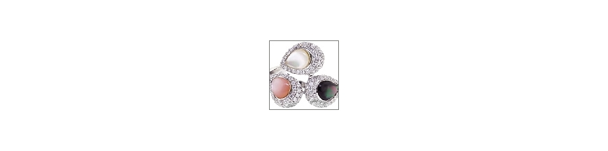Real Cultured Pearl Womens Rings