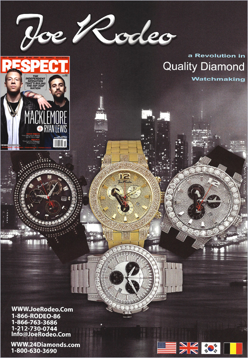 Our August 2013 Joe Rodeo Advertisement Campaign / Respect Magazine - 24diamonds.com