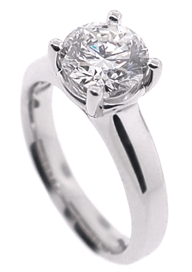 Natural GIA Certified Diamond Engagement Ring
