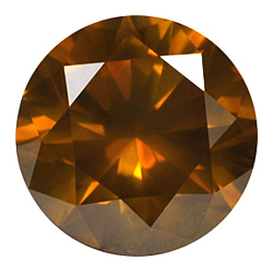Yellow-Brownish Lab-Created HPHT Diamond