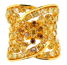 Natural Fancy Multicolored Diamond Ring