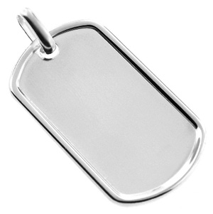 925 Sterling Silver Dog Tag Pendant